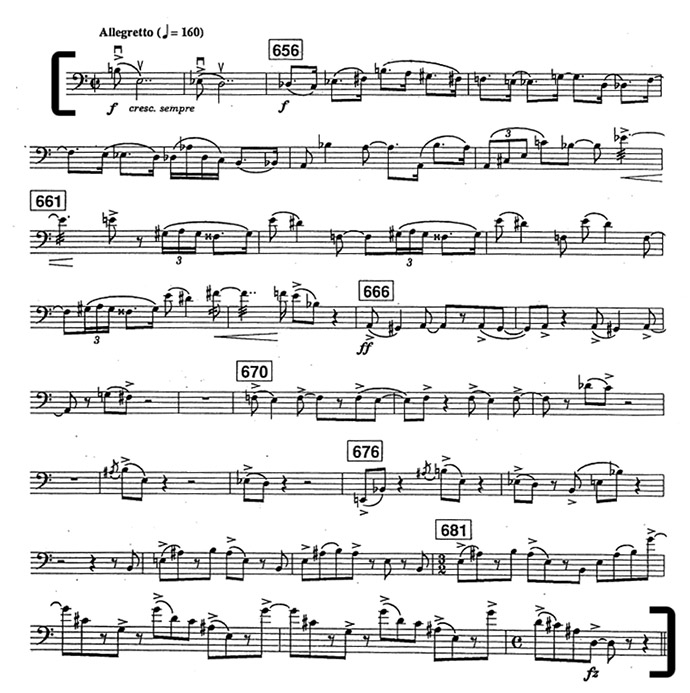 Bernstein West Side Story Bass Excerpt