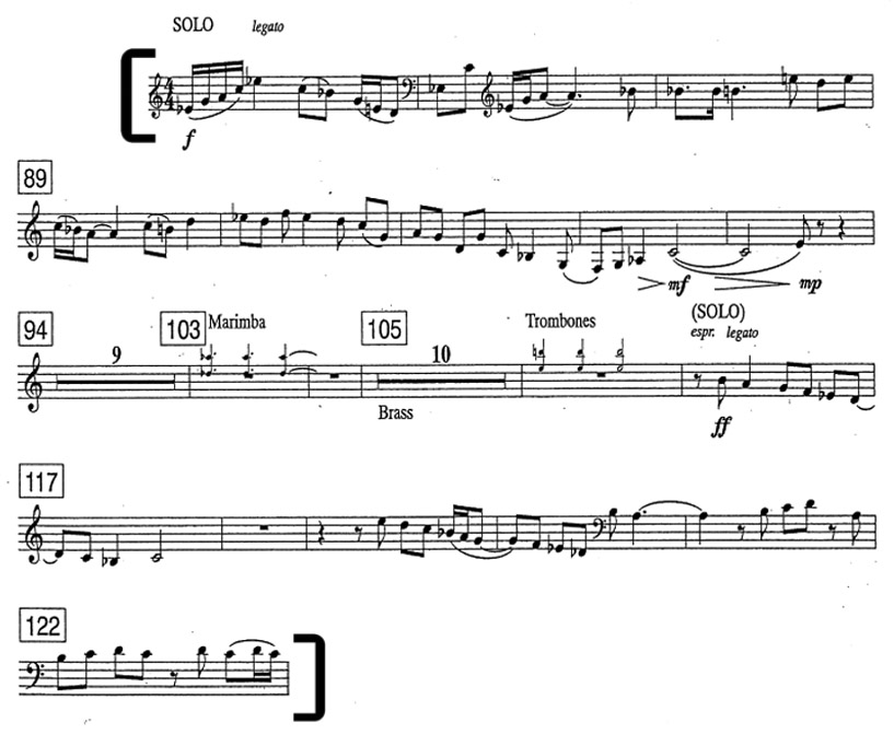 Higdon Concerto for Orchestra bass excerpt