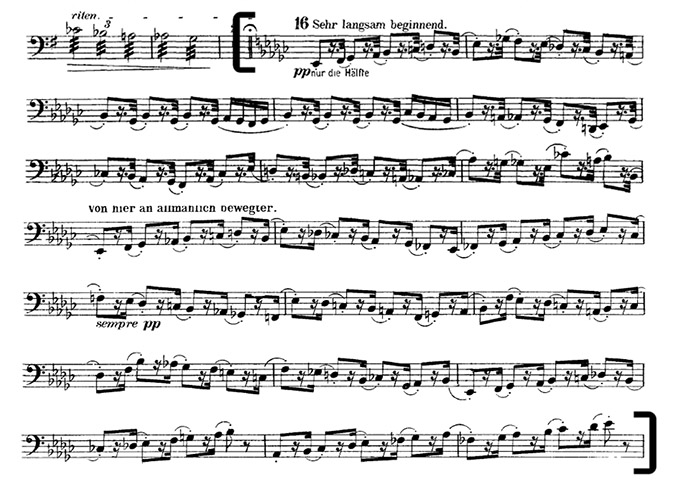 Mahler-Sympony 2 mvt 1 reh 16 bass excerpt