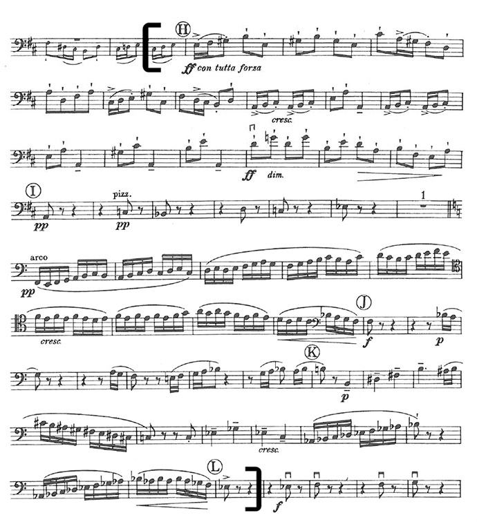 Britten Young Person's guide Bass Excerpt