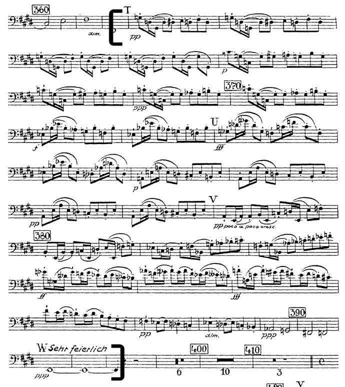 Bruckner Symphony 7 mvt 1 double bass audition excerpt